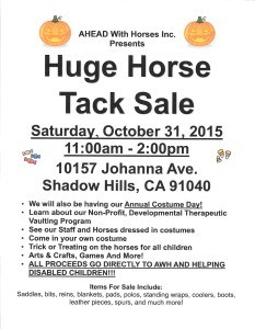 Costume Day 2015 Tack Sale