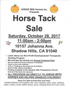 Costume Day Tack Sale 2017