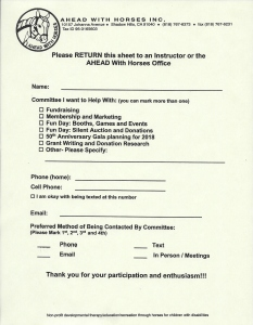 Committee Sign Up Sheet 2015