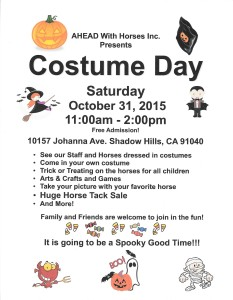 Costume Day Flyer 2015