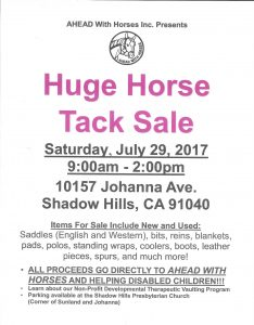 Tack Sale Flyer 2017